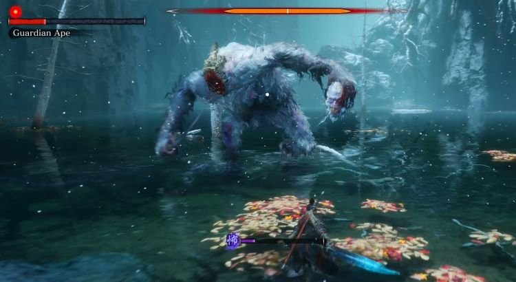 Sekiro - Guardian Ape Boss Fight-02