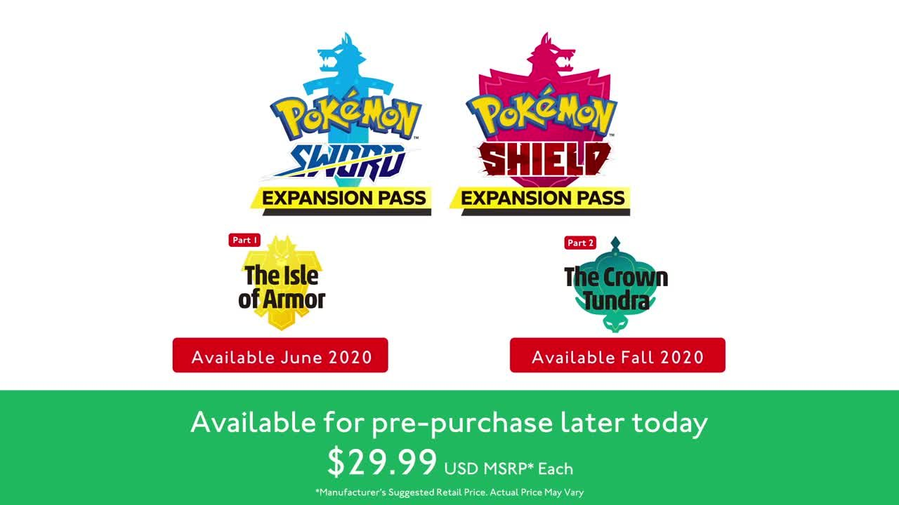 Pokemon Sword and Shield expansion announcement