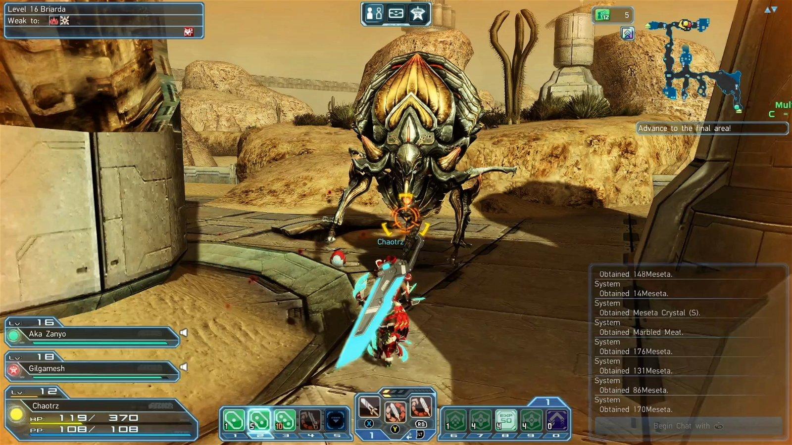 Phantasy Star Online 2 closed beta screenshot