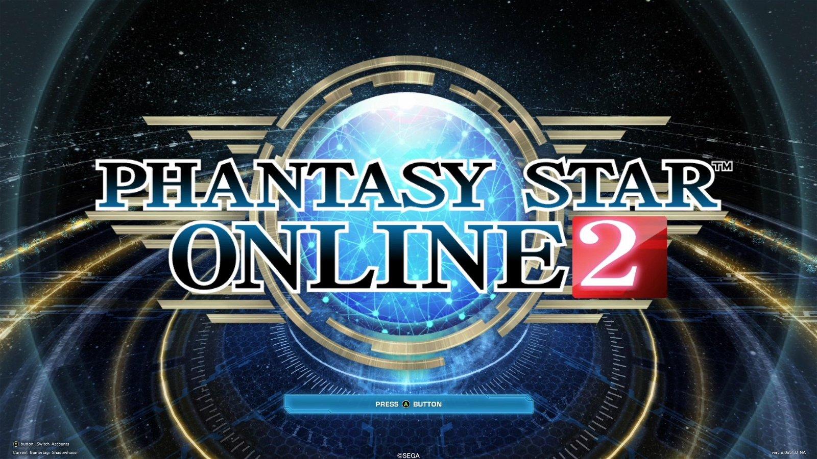 Phantasy Star Online 2 logo screenshot