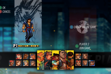 Streets of Rage 4 Character Select Screen