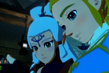 Hyrule Warriors Age of Calamity Zelda and Impa are shocked