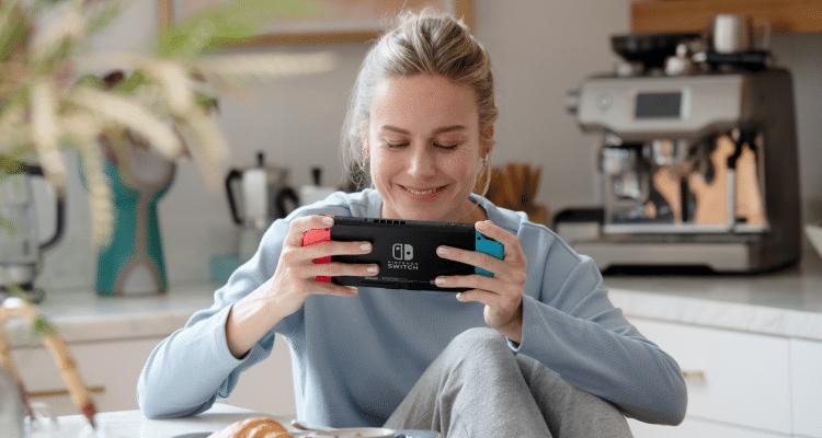 Brie Larson Nintendo Switch