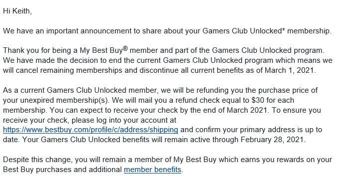 Best Buy Gamers Club Ending