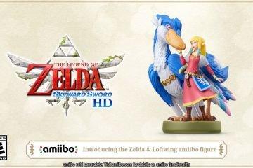 Zelda and Loftwing Nintendo Amiibo