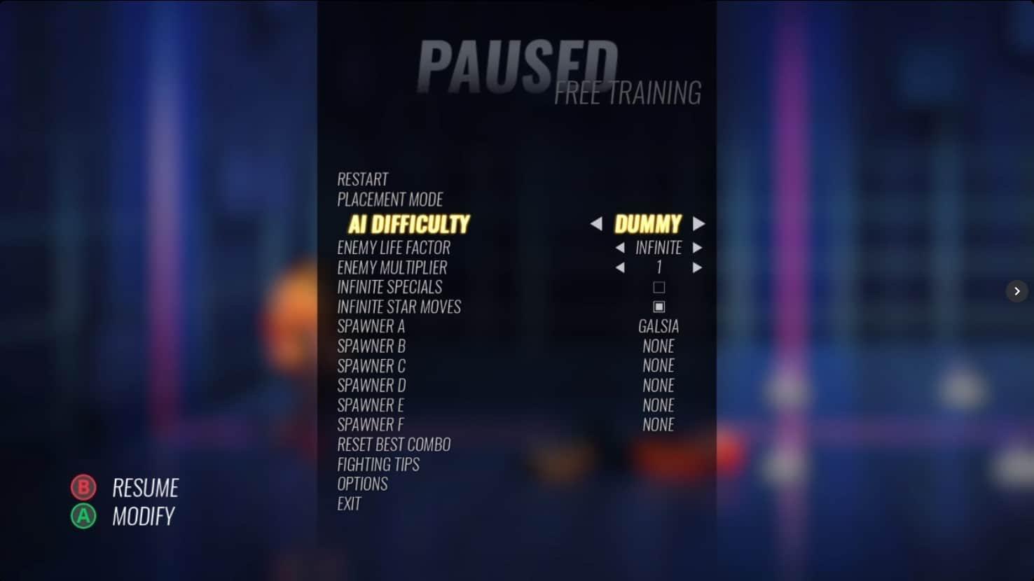 Streets of Rage 4 Mr X DLC - Training Mode