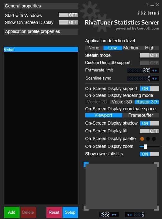 Rivatuner enable framerate cap