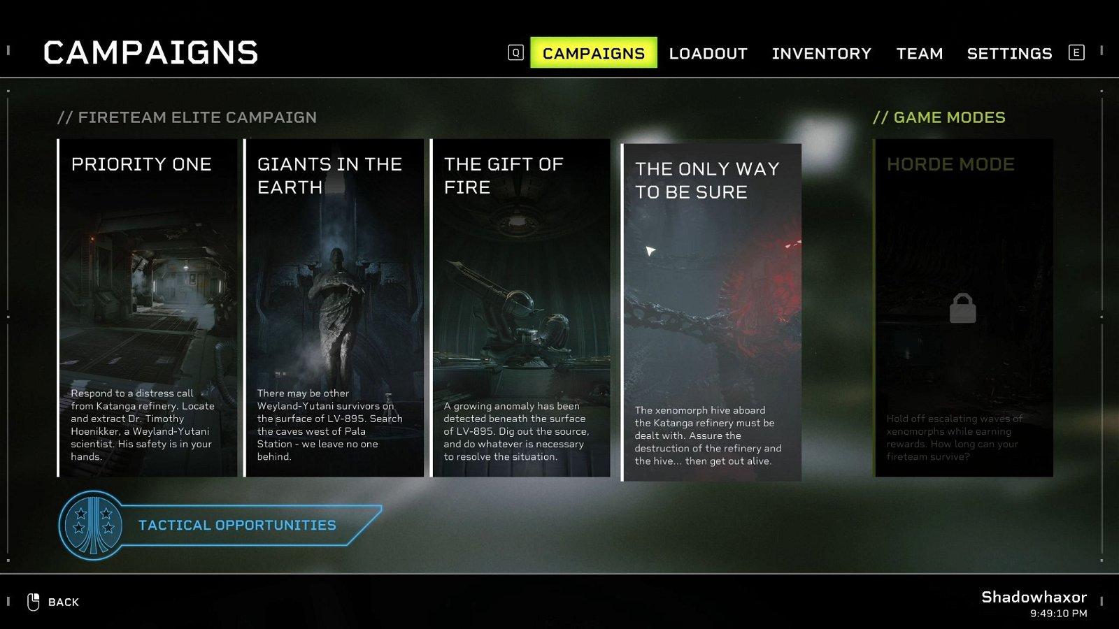 Aliens Fireteam Elite - How to Unlock Horde Mode-01