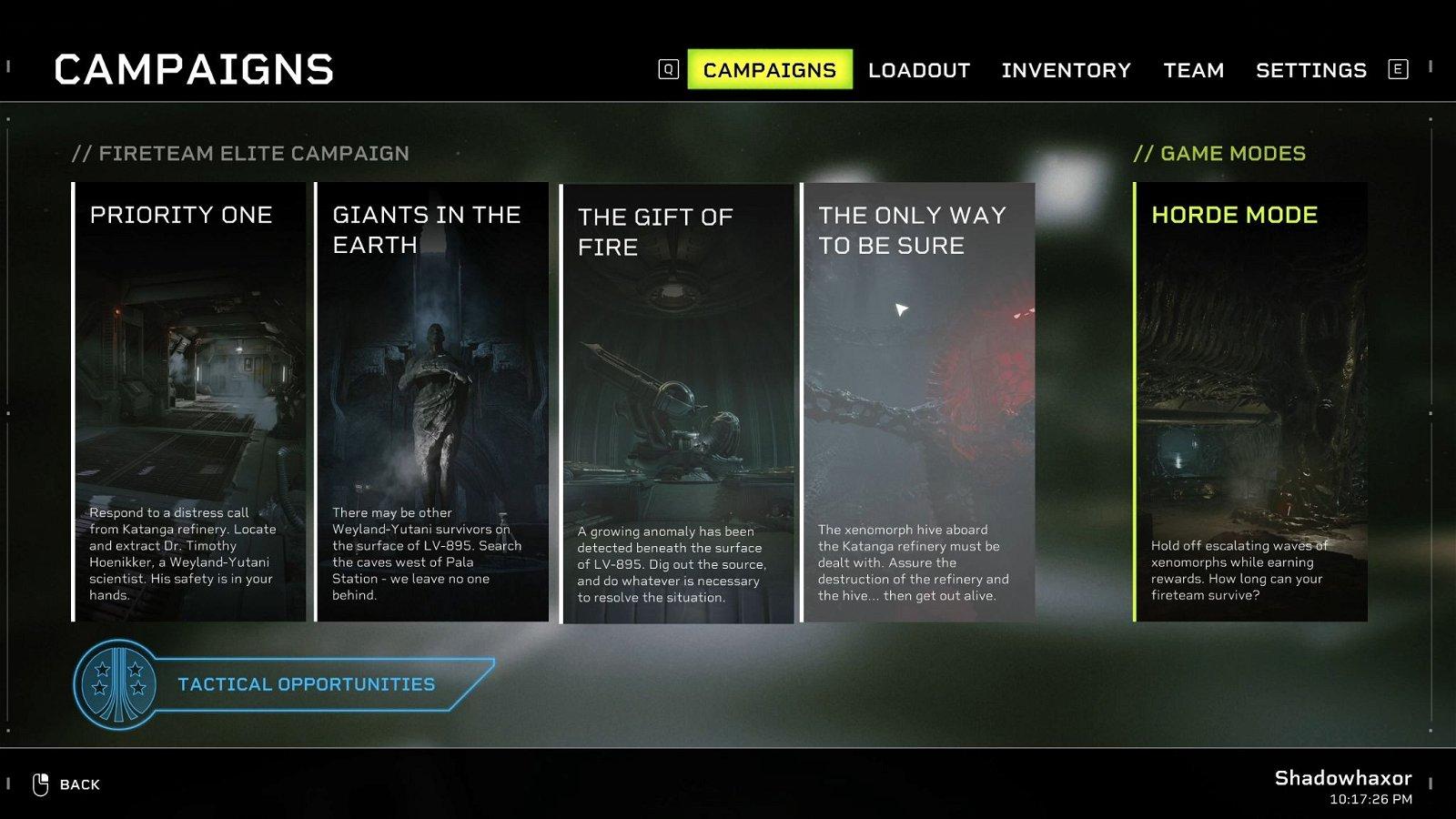 Aliens Fireteam Elite - How to Unlock Horde Mode-02